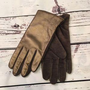 Ralph Lauren Bronze leather gloves
